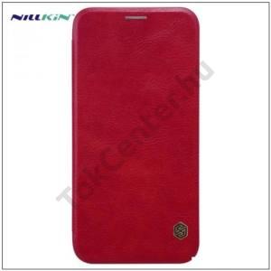 APPLE IPhone X 5,8 NILLKIN QIN tok álló, bőr (FLIP, oldalra nyíló, bankkártya tartó) PIROS