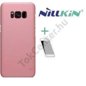 APPLE IPhone X 5,8 NILLKIN SUPER FROSTED műanyag telefonvédő (gumírozott, érdes felület, képernyővédő fólia, tisztítókendő) ROZÉARANY
