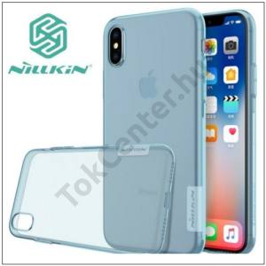 APPLE IPhone X 5,8 NILLKIN NATURE telefonvédő gumi / szilikon (0.6 mm, ultravékony) KÉK