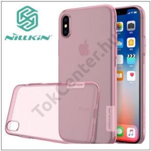 APPLE IPhone X 5,8`` NILLKIN NATURE telefonvédő gumi / szilikon (0.6 mm, ultravékony) RÓZSASZÍN