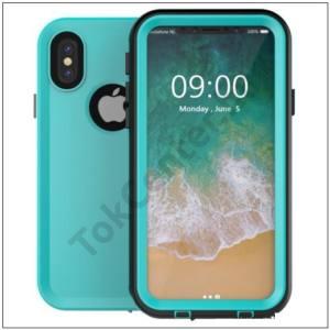 Apple iPhone X 5.8 /Apple iPhone XS 5.8 Vízhatlan / vízálló tok, AQUA (10 méterig, kitámasztó) CYAN