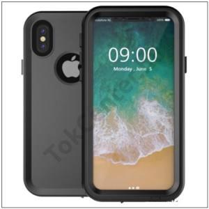 Apple iPhone X 5.8 /Apple iPhone XS 5.8 Vízhatlan / vízálló tok, AQUA (10 méterig, kitámasztó) FEKETE