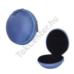 Tok textil, cipzáras (fülhallgató/james bond, 80 x 30 mm) VILÁGOSKÉK