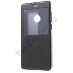 LG X Power 2 Tok álló, bőr (FLIP, oldalra nyíló, S-View Cover) FEKETE