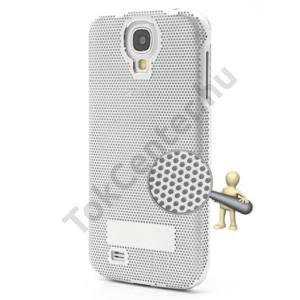Samsung Galaxy S IV. (GT-I9500) FÉM telefonvédő (lyukacsos) EZÜST