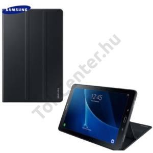 SAMSUNG Galaxy Tab A 10.1 (2016) Műanyag telefonvédő (FLIP, asztali tartó funkció) FEKETE