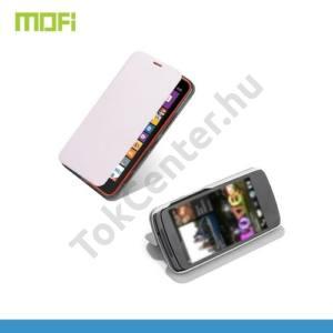 Nokia Lumia 1320 MOFI RUI tok álló, bőr (FLIP, oldalra nyíló, asztali tartó funkció, szilikon tartó) FEHÉR
