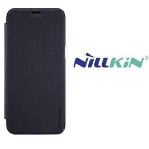 HUAWEI Nova 2 NILLKIN SPARKLE műanyag telefonvédő (bőr flip, oldalra nyíló) FEKETE