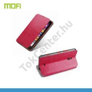 Nokia Lumia 1320 MOFI RUI tok álló, bőr (FLIP, oldalra nyíló, asztali tartó funkció, szilikon tartó) RÓZSASZÍN
