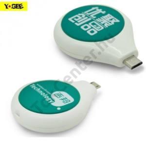 Töltő adapter vezeték nélküli töltéshez (alsó microUSB töltőcsatlakozóhoz, fogadóegység, QI Wireless) FEHÉR/ZÖLD