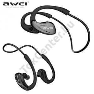AWEI BLUETOOTH james bond SZTEREO (nyakba akasztható, mikrofon, zajszűrő, 3 pár fülgumi, SPORT) FEKETE