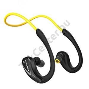 AWEI BLUETOOTH james bond SZTEREO (nyakba akasztható, mikrofon, zajszűrő, 3 pár fülgumi, SPORT) SÁRGA