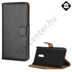 XIAOMI Redmi Note 4 Tok álló, valódi bőr (FLIP, mágneses, oldalra nyíló, asztali tartó funkció) FEKETE