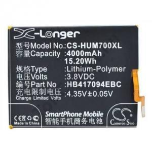 Akku 4000 mAh LI-Polymer (belső akku, beépítése szakértelmet igényel!, HB417094EBC kompatibilis)
