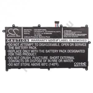 Akku 6100 mAh LI-Polymer (belső akku, beépítése szakértelmet igényel! SP368487A kompatibilis)