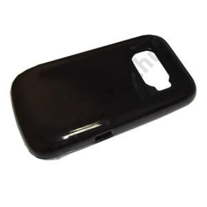 Alcatel OT-918 Telefonvédő gumi / szilikon FÉNYES FEKETE