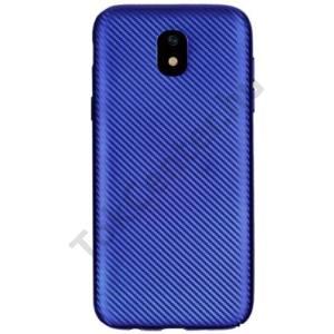 SAMSUNG Galaxy J3 (2017) (SM-J330) EU Telefonvédő gumi / szilikon (karbon minta) KÉK
