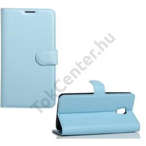 LG Q8 (H970) Tok álló, bőr (FLIP, mágneses, oldalra nyíló, asztali tartó funkció) VILÁGOSKÉK
