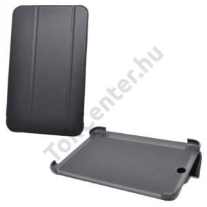 Lenovo Tab A7-50 A3500 Tok álló, bőr (FLIP, oldalra nyíló, TRIFOLD asztali tartó funkció) FEKETE