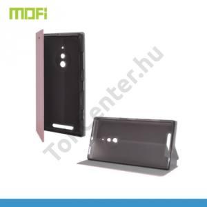 Nokia Lumia 830 MOFI RUI tok álló, bőr (FLIP, oldalra nyíló, asztali tartó funkció, szilikon tartó) RÓZSASZÍN