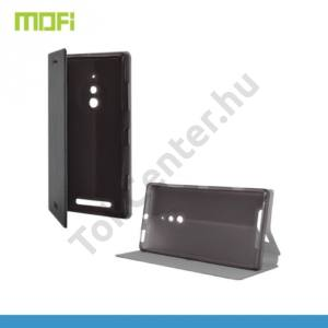 Nokia Lumia 830 MOFI RUI tok álló, bőr (FLIP, oldalra nyíló, asztali tartó funkció, szilikon tartó) FEKETE