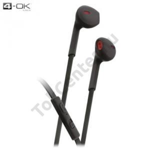 4-OK james bond SZTEREO (3.5 mm, felvevő gomb, mikrofon, lapos kábel) FEKETE