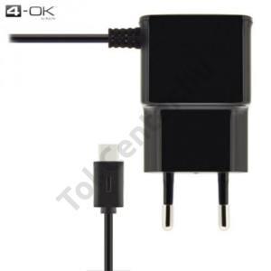 4-OK hálózati töltő (USB Type-C, 220V / 1000mA) FEKETE