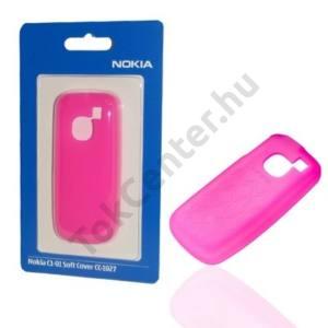 Nokia C1-01 Telefonvédő gumi / szilikon MAGENTA