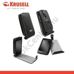 Nokia N9-00 KRUSELL ORBIT FLEX álló bőrtok (övcsipesz) FEKETE/SZÜRKE