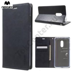 XIAOMI Redmi Note 4-4x MERCURY BLUE MOON FLIP tok álló, bőr (oldalra nyíló, asztali tartó funkció) FÉNYES SÖTÉTKÉK