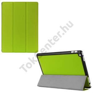 APPLE IPAD Pro 12.9 Műanyag telefonvédő (FLIP, bőrhátlap, oldalra nyíló, TRIFOLD asztali tartó funkció) ZÖLD