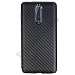 XIAOMI MI A1 Telefonvédő gumi / szilikon (karbon minta) FEKETE
