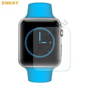 ENKAY képernyővédő fólia (2 db-os, 0.2 mm, edzett üveg, 2.15D,karcálló, 9H) TEMPERED GLASS Apple Watch 1/2/3 42mm