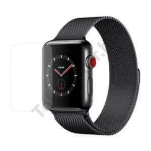 Képernyővédő fólia törlőkendővel (1 db-os, edzett üveg, 0.3mm vékony,9H, NEM ÍVES) TEMPERED GLASS Apple Watch 1/2/3 38mm