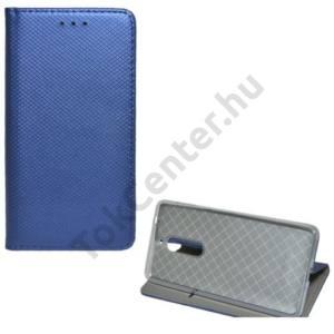 XIAOMI Redmi Note 5A Tok álló, bőr (FLIP, oldalra nyíló, asztali tartó funkció, rombuszminta) SÖTÉTKÉK