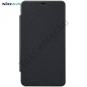 Microsoft Lumia 640 XL NILLKIN SPARKLE műanyag telefonvédő (mikroszálas bőr flip, oldalra nyíló) FEKETE