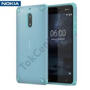 NOKIA 6 Műanyag telefonvédő (gumi / szilikon belső, közepesen ütésálló) MENTAZÖLD