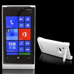 Nokia Lumia 920 Műanyag telefonvédő (beépített 2200 mAh LI-Ion akku, kitámasztó) FEHÉR
