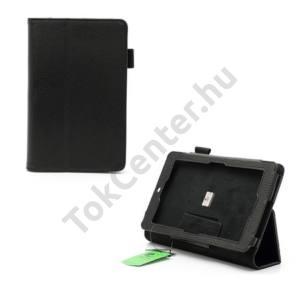 Asus Memo Pad ME172V Tok álló, bőr (FLIP, mágneses, asztali tartó funkció) FEKETE