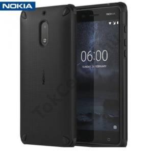 NOKIA 5 Műanyag telefonvédő (gumi / szilikon belső, közepesen ütésálló) FEKETE
