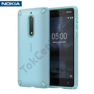 NOKIA 5 Műanyag telefonvédő (gumi / szilikon belső, közepesen ütésálló) MENTAZÖLD
