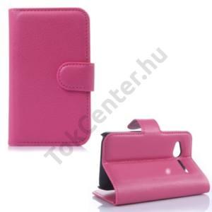 Alcatel Pop D1 (OT-4018D) Tok álló, bőr (FLIP, mágneses, oldalra nyíló, bankkártya  tartó, asztali tartó funkció) RÓZSASZÍN