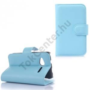Alcatel Pop D1 (OT-4018D) Tok álló, bőr (FLIP, mágneses, oldalra nyíló, bankkártya  tartó, asztali tartó funkció) VILÁGOSKÉK