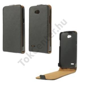 LG L80 (D380) Tok álló (FLIP, mágneses) FEKETE