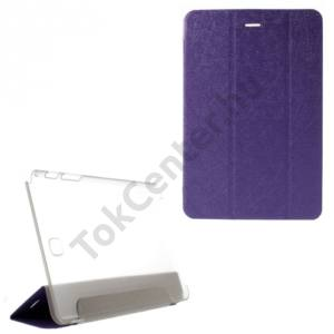 Samsung Galaxy Tab A 8.0 (SM-T350) Tok álló, bőr (FLIP, oldalra nyíló, TRIFOLD asztali tartó funkció, selyem hatás) LILA