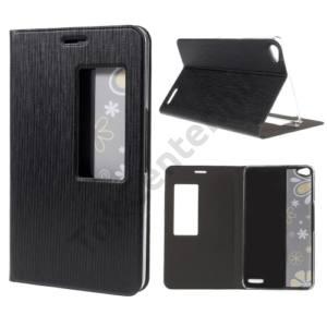 Huawei MediaPad X2 Tok álló, bőr (FLIP, oldalra nyíló, asztali tartó funkció, View Window) FEKETE