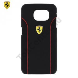 Samsung Galaxy S6 (SM-G920) Ferrari Fiorano műanyag telefonvédő (bőr hátlap) FEKETE