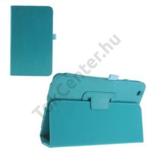 LG G Pad 8.3 (V500) Tok álló, bőr (FLIP, mágneses, oldalra nyíló, asztali tartó funkció) VILÁGOSKÉK