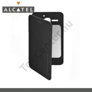 Alcatel Star (OT-6010D) Műanyag telefonvédő (oldalra nyíló, NANOPAD szerű készülék rögzítés) FLIP, FEKETE