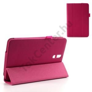 Univerzális Tok álló, bőr (FLIP, mágneses, oldalra nyíló, asztali tartó funkció, kéregmintás) RÓZSASZÍN Huawei MediaPad 7 Vogue